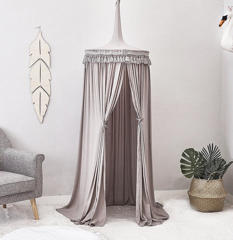 Grey Canopy with Tassel - Mini Me Ltd