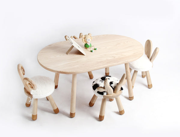 Handmade Wooden Kids Table-L - Mini Me Ltd