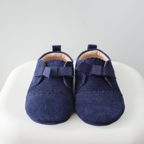 Leather shoes - Navy Blue