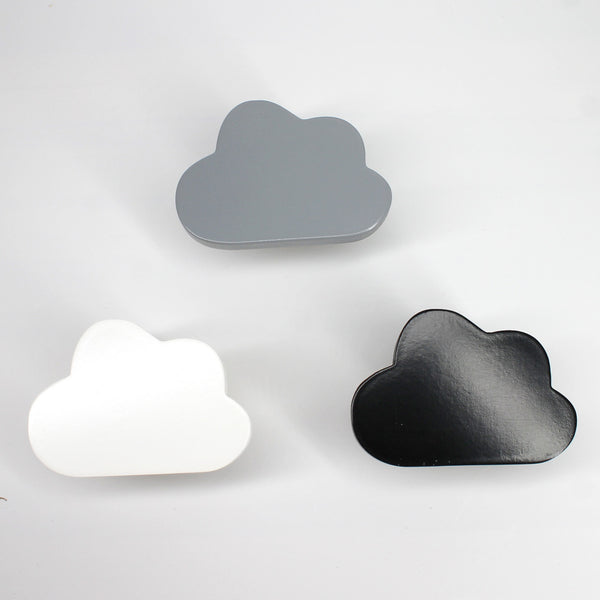Black & White& Grey Cloud Hangers-Handmade - Mini Me Ltd