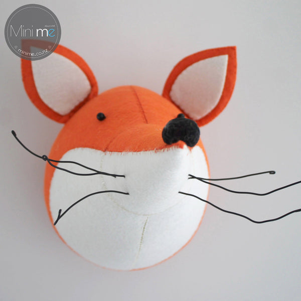 Fox-Felt Animal Head /Hand made Room deco - Mini Me Ltd