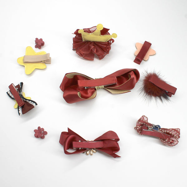 Holiday Red Hair Clips 10 in 1 - Mini Me Ltd