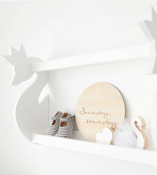 Wooden Swan Wall Shelf - Mini Me Ltd