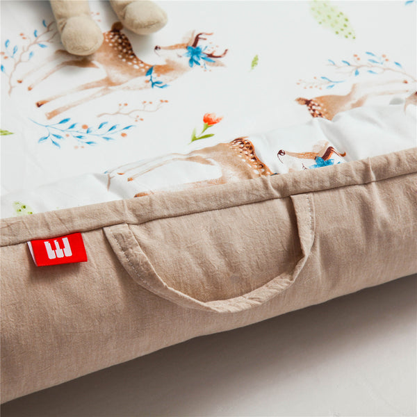 Double-Sided Portable Newborn Baby Sleeping Bed - Sika deer