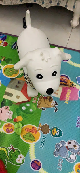White Dog Bouncy Horse Hopper - Bouncing Animal - Mini Me Ltd