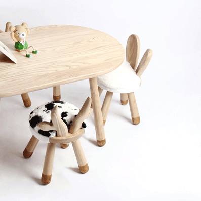 Charmant ... Little Cow Handmade Wooden Kids Chair   Mini Me Ltd ...