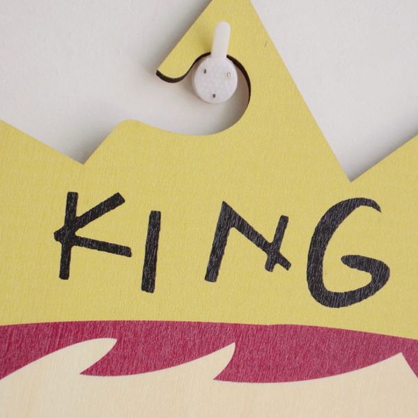 King / Princess Wooden hangers for Kids - Mini Me Ltd