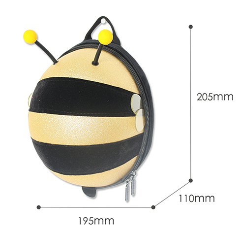 Mini Shining Bumble Bee Backpack-Pink - Mini Me Ltd