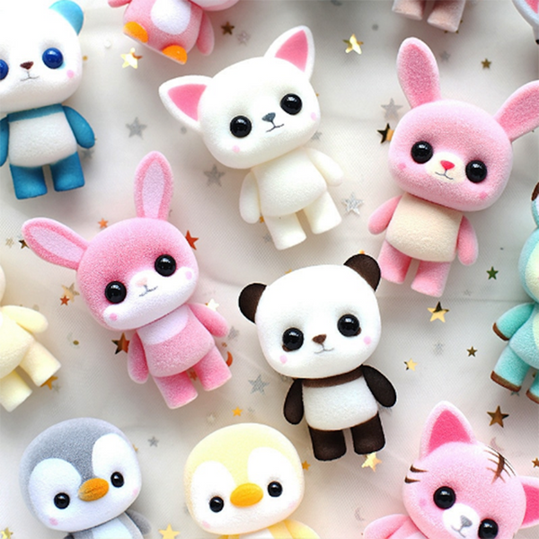 Super Cute Flocking Mini Dolls - Mini Me Ltd