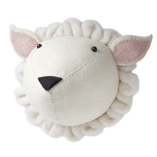 Sheep-Felt Animal Head - Mini Me Ltd