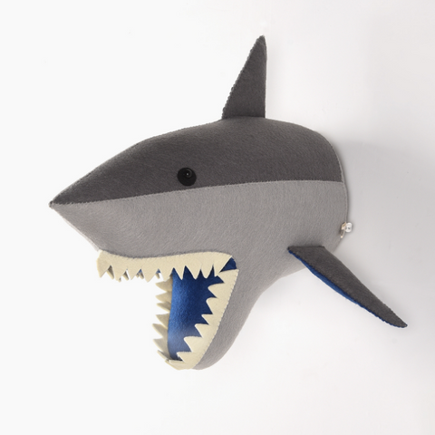 Shark-Felt Animal Head - Mini Me Ltd
