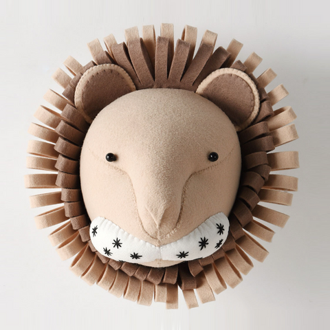 Lion-Felt Animal Head - Mini Me Ltd