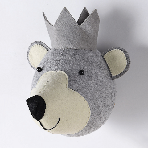 Bear-Felt Animal Head - Mini Me Ltd