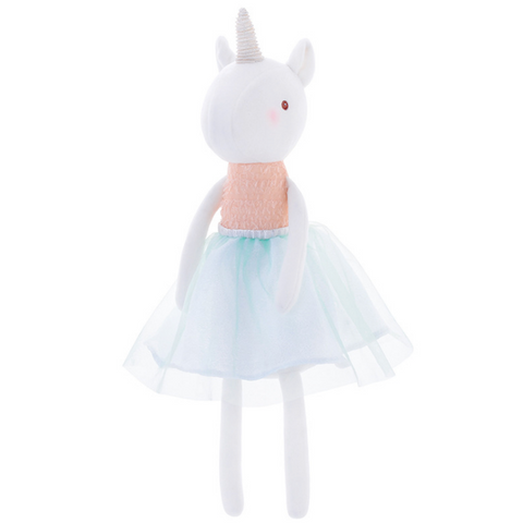 Unicorn Doll - Orange - Mini Me Ltd