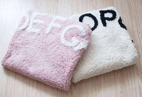 Pink-Round Alphabet Rug - Mini Me Ltd