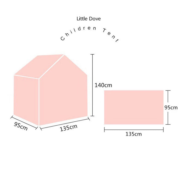 PINK Little Dove Kids Indoor playhouse /Floor bed - Mini Me Ltd