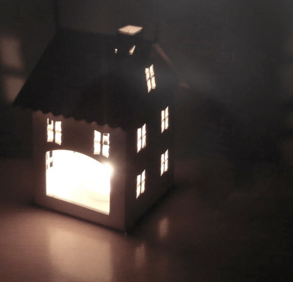 Zakka White Candle House - Mini Me Ltd