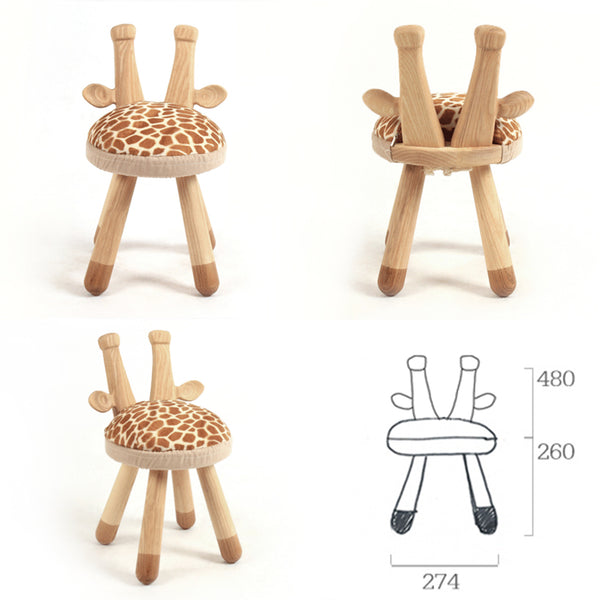 Giraffe-Handmade High Quality Wooden Kids Chair - Mini Me Ltd
