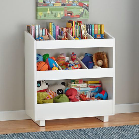Solid Wood TOY & BOOK Storage Unit