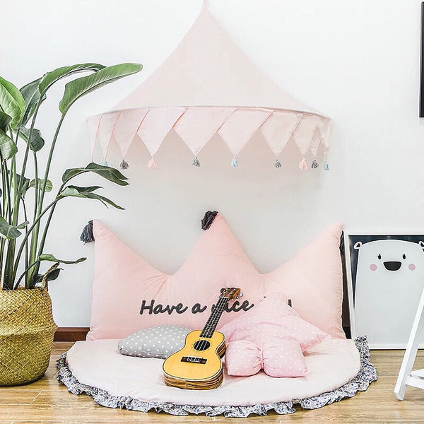 Hanging bed canopy room decor -Pink - Mini Me Ltd