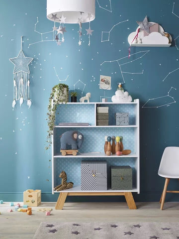 Sample Sale. Blue Star Bookshelf - Mini Me Ltd