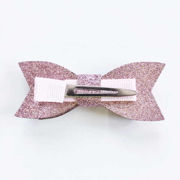 Pink Bow Hair Clip - Mini Me Ltd