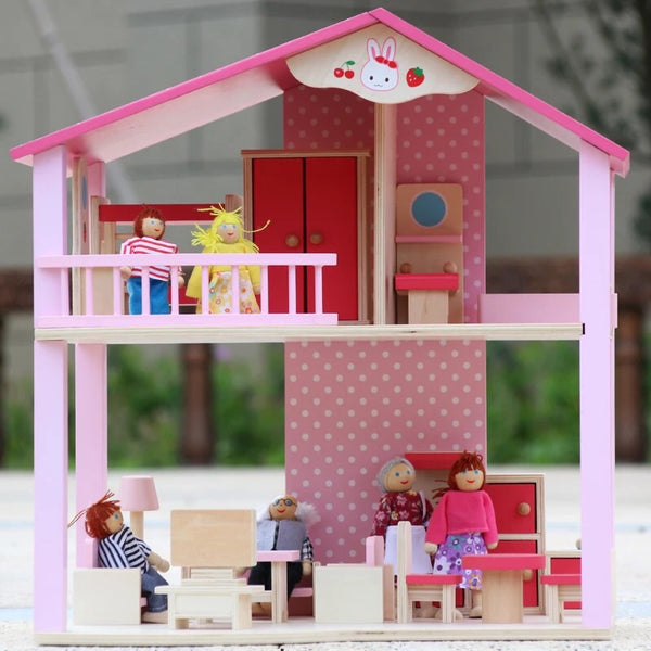 Mother Garden Wooden Doll House - Mini Me Ltd