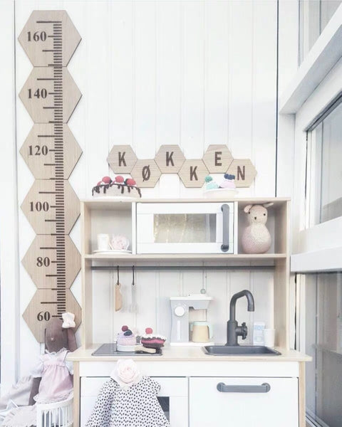 Wooden Kids Growth Chart /Wall Decor - Mini Me Ltd