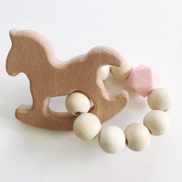 Wooden baby teether - Mini Me Ltd