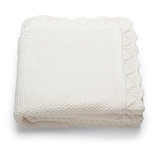 Cotton Baby Blanket (pink / white) - Mini Me Ltd