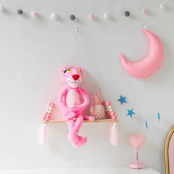 Pink Wooden Display Shelf/ Wall decoration - Mini Me Ltd
