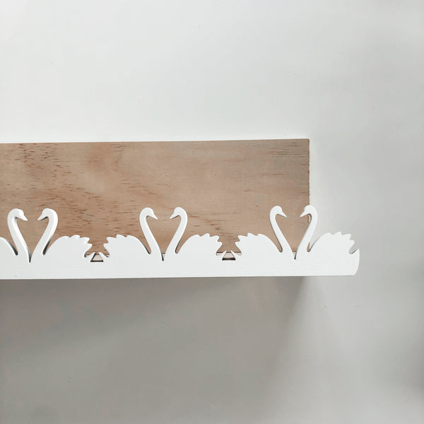 Swans - Wooden Storage Rack / shelf - Mini Me Ltd