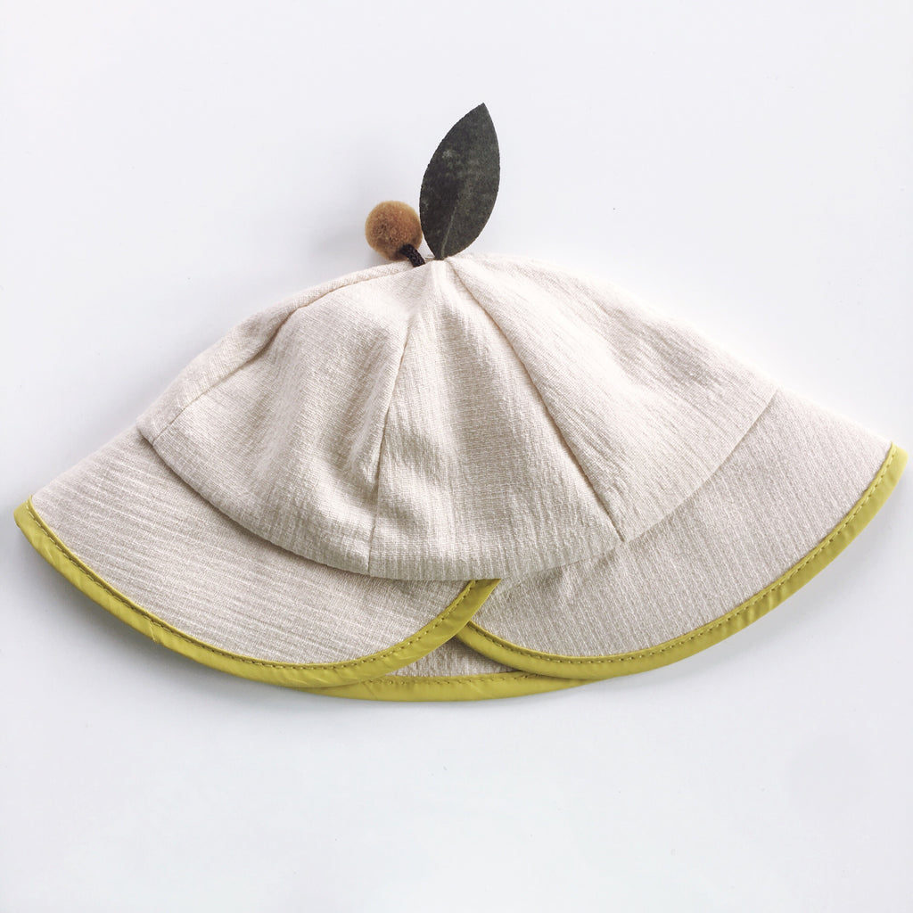 Kids Hat-Cream (18m-5Y) - Mini Me Ltd