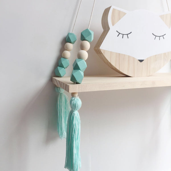 Green Macaron Wooden Display Shelf/ Wall decoration - Mini Me Ltd