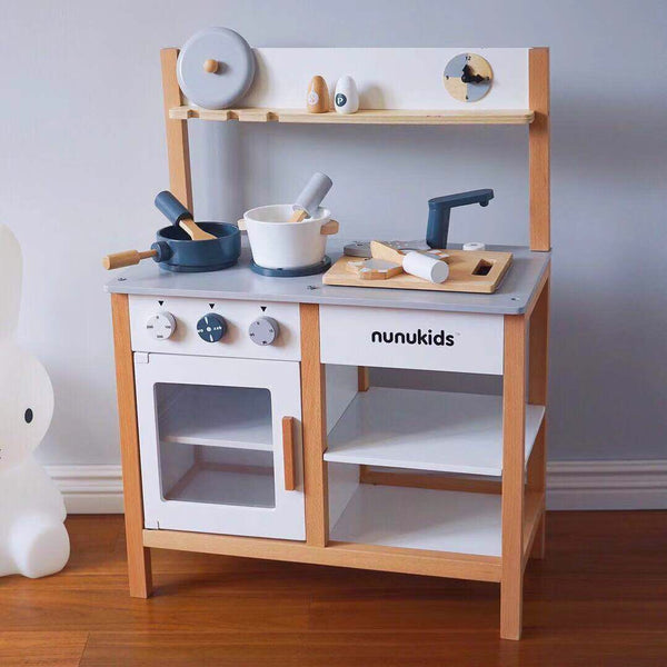 Nunukids Wooden Play Kitchen Set - Mini Me Ltd