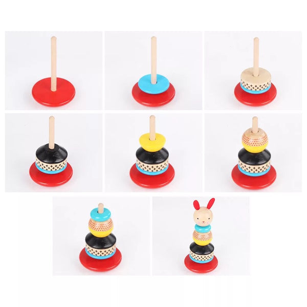 Wooden Rabbit Stacker Toy - Mini Me Ltd
