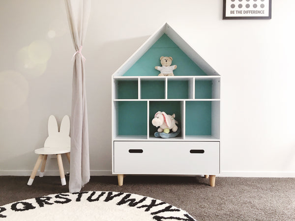MINU House Shape Storage Unit /Bookcase - Mini Me Ltd