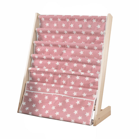 Pink Stars 5 Level Wooden Book Shelf