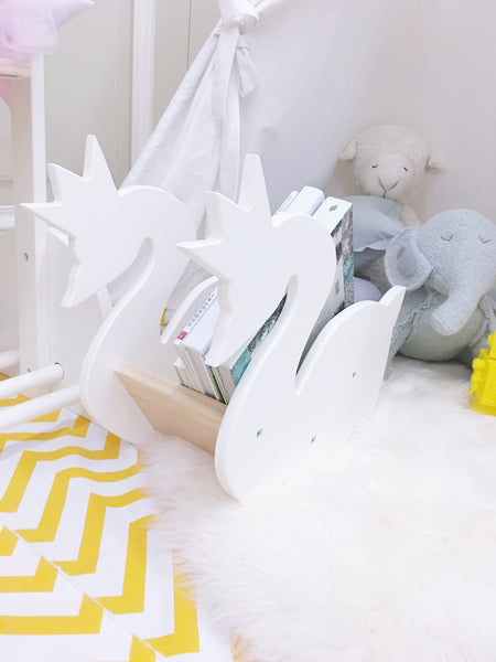 Wooden Swan Book Storage - Mini Me Ltd