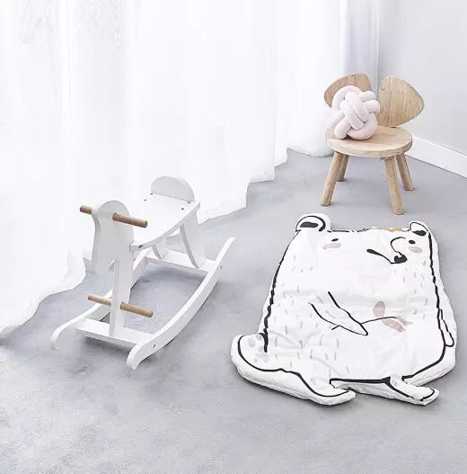 White Wooden Rocking Horse - Mini Me Ltd