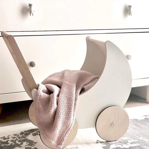 SAMPLE SALE- Wooden Toy Pram - Mini Me Ltd
