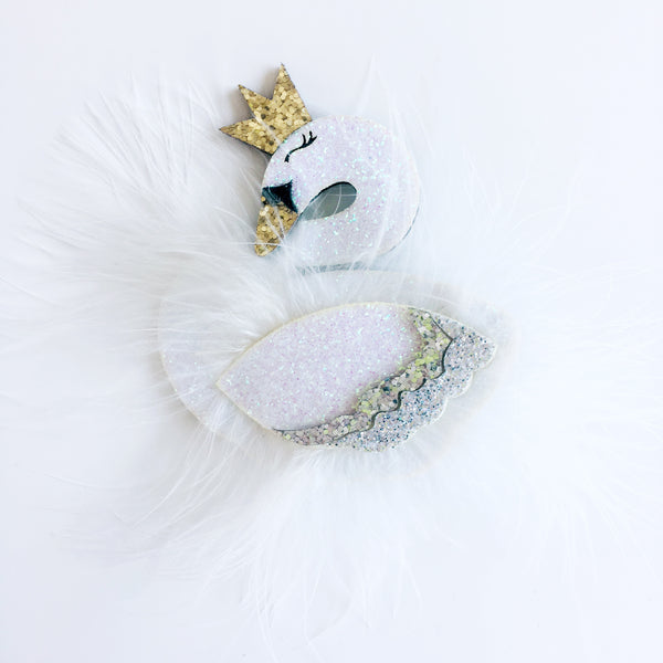 Swan Hair Clip -Pure - Mini Me Ltd