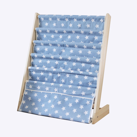 Blue Stars 5 Level Wooden Book Shelf