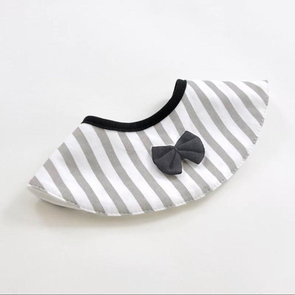 KOOAPE Baby Bib -Grey stripe - Mini Me Ltd