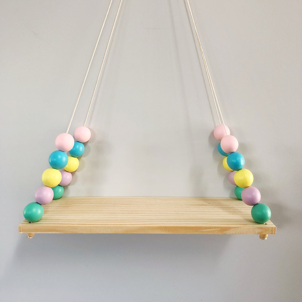 Colorful Wooden Display Shelf/ Wall decoration - Mini Me Ltd