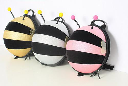 Mini Shining Bumble Bee Backpack-Gold - Mini Me Ltd