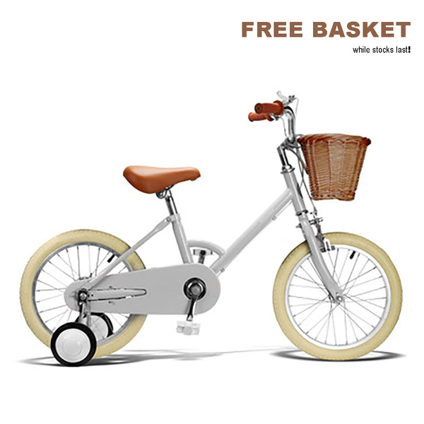 Baincu Retro 16 inch Grey Bike +FREE Basket