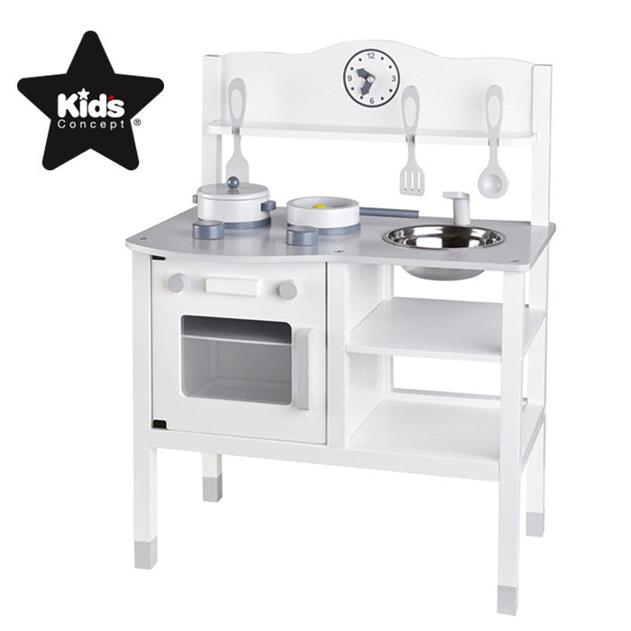 White Wooden Play Kitchen Set Only In 169 00 Minime Mini Me Ltd