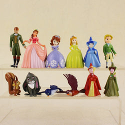 12pcs/lot Cosplay Princess Sofia PVC Action Figure Model Doll Toys For Kids House Decoration