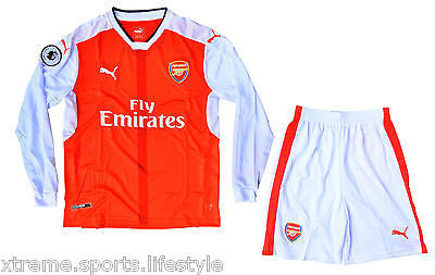 Arsenal Football Long Sleeves Jersey Set for Adults - Jersey + Shorts e0421b0bd